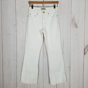 LONDONJEAN   White Straight Leg High Waist Jeans